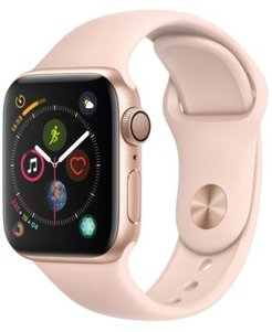 Gps, 40mm Gold Aluminum Case with Pink Sand Sport Band