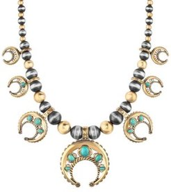 Two-Tone Turquoise Naja Statement Necklace