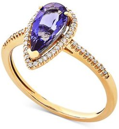 Amethyst (1-9/10 ct. t.w.) & Diamond (1/10 ct. t.w.) Ring in 14k Gold