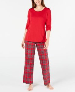 Matching Family Pajamas Women's Mix It Brinkley Plaid Pajama Set, Created For Macy's