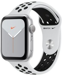 Apple Watch Nike Series 5 Gps, 44mm Silver Aluminum Case with Pure Platinum/Black Nike Sport Band