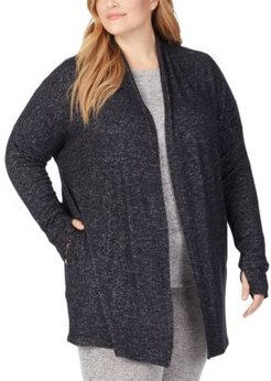 Plus Size Soft Knit Wrap Cardigan