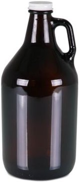 Legacy by Picnic Time 64-Oz. Amber Translucent Glass Growler