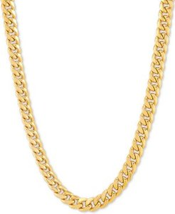 """Miami Curb 18"""" Chain Necklace in 10k Gold"""
