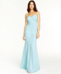 Beaded-Strap Mermaid Gown