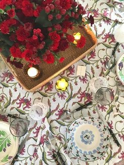 Winter Chintz Round And Rectangular Tablecloth
