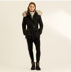 The Elements Parka In Black With Fur Hood M The elements parka in black with fur hood