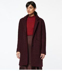 Paige Pressed Boucle Coat S Burgundy