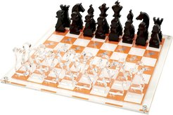 Chess Board - Orange with Horse Print