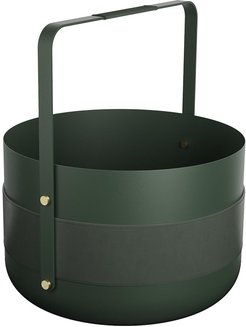 Wood Basket - British Racing Green