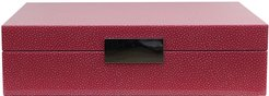 Lacquer Box with Metal Clasp - 20x28cm - Pink