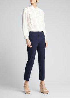 Stretch Techno Straight-Leg Pants