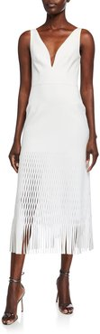 Lory Perforated-Jersey Dress