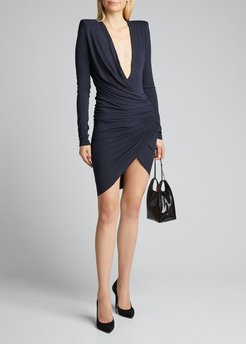 Draped Jersey Bodycon Dress