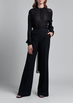 Sable High-Rise Flare-Leg Pants