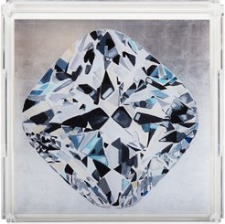 Diamond Faceted Square Acrylic Tray
