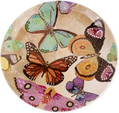 """Butterfly Porcelain Plate, 10.75"""""""
