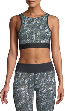 Kea Printed Performance Crop Top