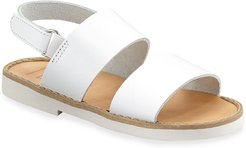 Double Strap Leather Sandal, Toddler