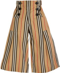 Taren Wide Legs icon Stripe Sailor Pants, Size 3-14