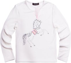 Girl's Horse Graphic Tee, Size 4-6