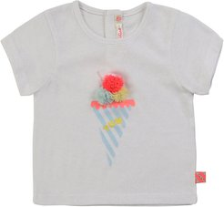 Girl's Ice Cream Graphic Short-Sleeve Baby Tee, Size 12M-3