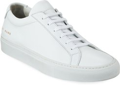 Achilles Leather Low-Top Sneakers, White