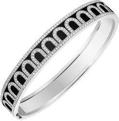 L'Arc de Davidor 18k White Gold Diamond Bangle - Med. Model, Caviar