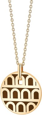 L'Arc de Davidor 18k Gold Pendant Necklace - Petite Model, Cognac