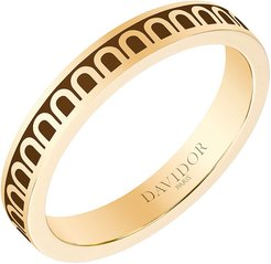 L'Arc de Davidor 18k Gold Ring - Petite Model, Cognac, Sz. 7.5