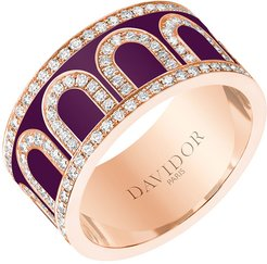 L'Arc de Davidor 18k Rose Gold Diamond Ring - Grand Model, Aubergine, Sz. 6