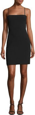 Caressa Square-Neck Sleeveless Fitted Cocktail Dress