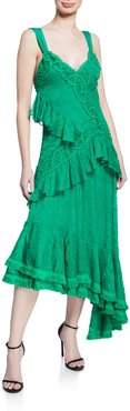 Bozoma Lace Ruffle Long Dress