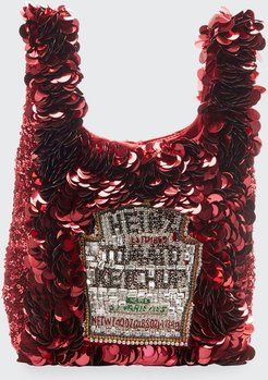 Mini Ketchup Sequins Tote Bag