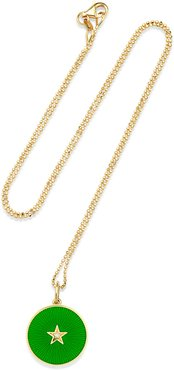 18k New Full Moon Necklace, Green