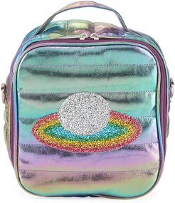 Kid's Puffy Lunch Box w/ Rainbow Planet Crystal Patch