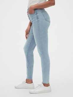 High Rise Curvy True Skinny Ankle Jeans with Button-Fly