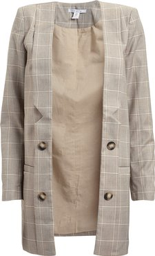 Mother Tongue Checked Blazer  Beige/Check P