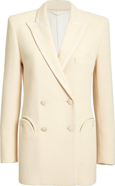 Resolute Double-Breasted Blazer  Ivory 2