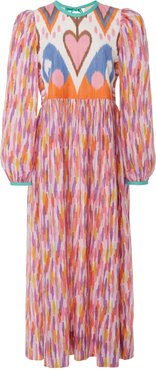 Tallulah Printed Cotton And Silk-Blend Dress