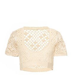 Lilou Crocheted Cotton Top