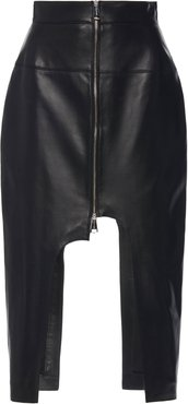Cut-Out Leather Skirt