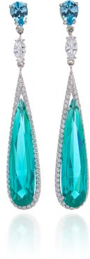 Paraiba 18K Gold Vermeil And Multi-Stone Earrings