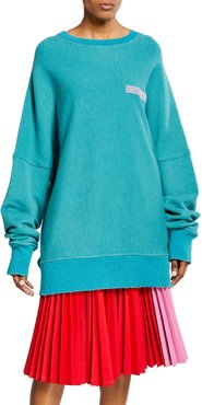 Oversized Crewneck Pullover Sweater