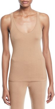 Douglas Scoop-Neck Ribbed Cashmere Tank Top