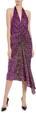 Ruched Degrade Sequin Dress