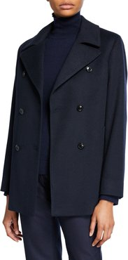 Cashmere Double-Breasted Pea Coat