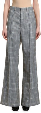 Check High-Rise Flare Pants