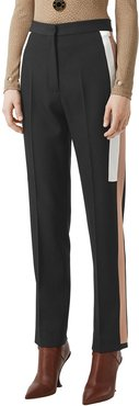 Wool Side Striped Trousers