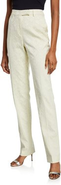 Brocade Straight-Leg Trousers